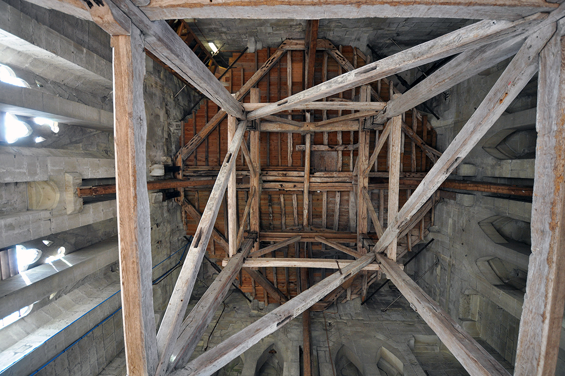Salisbury Cathedral bell tower interior