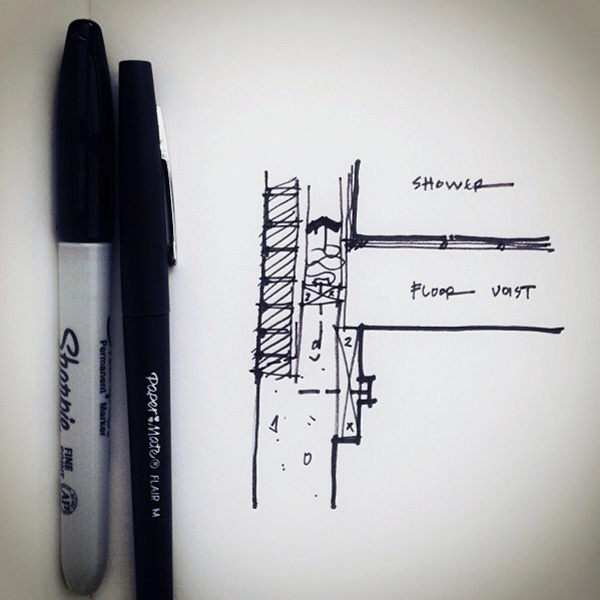 Architectural Sketch detail line weight