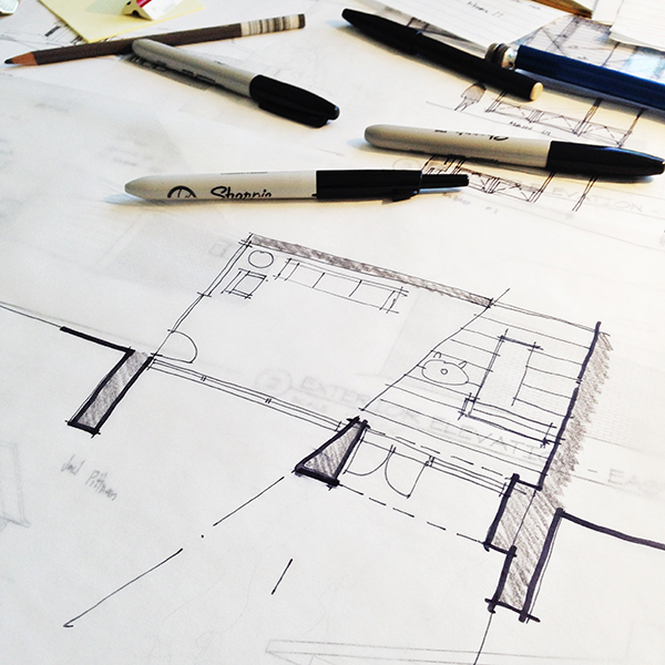 Architectural Sketch plan line weight