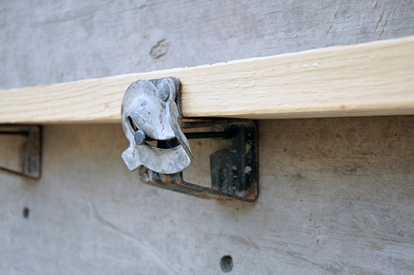 concrete formwork bracket detail