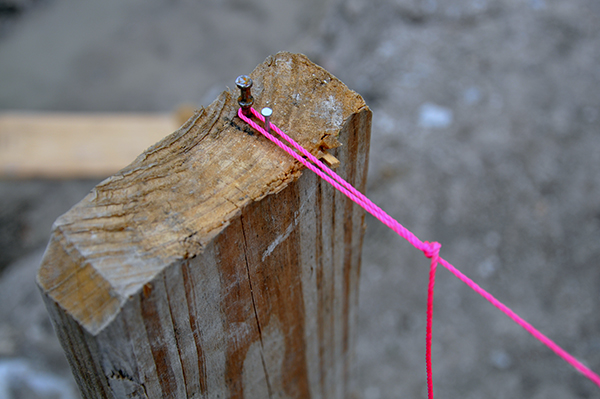 hot pink formwork level string