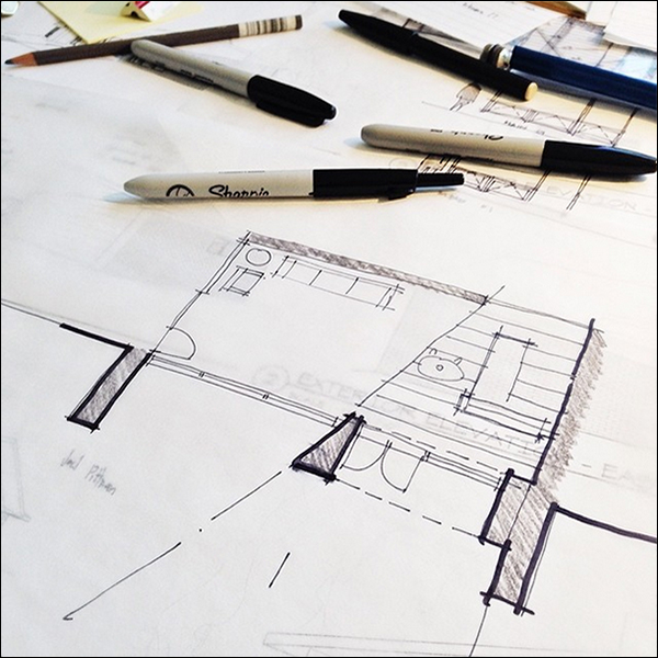 ArchiSketch Bob Borson lobby design study