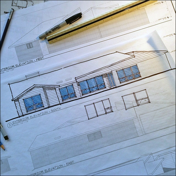 ArchiSketch Bob Borson window elevations study
