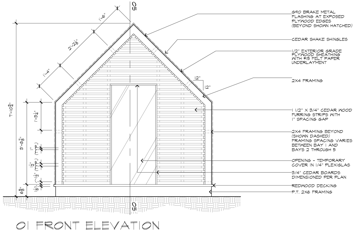 Lantern Playhouse 01 Front Elevation