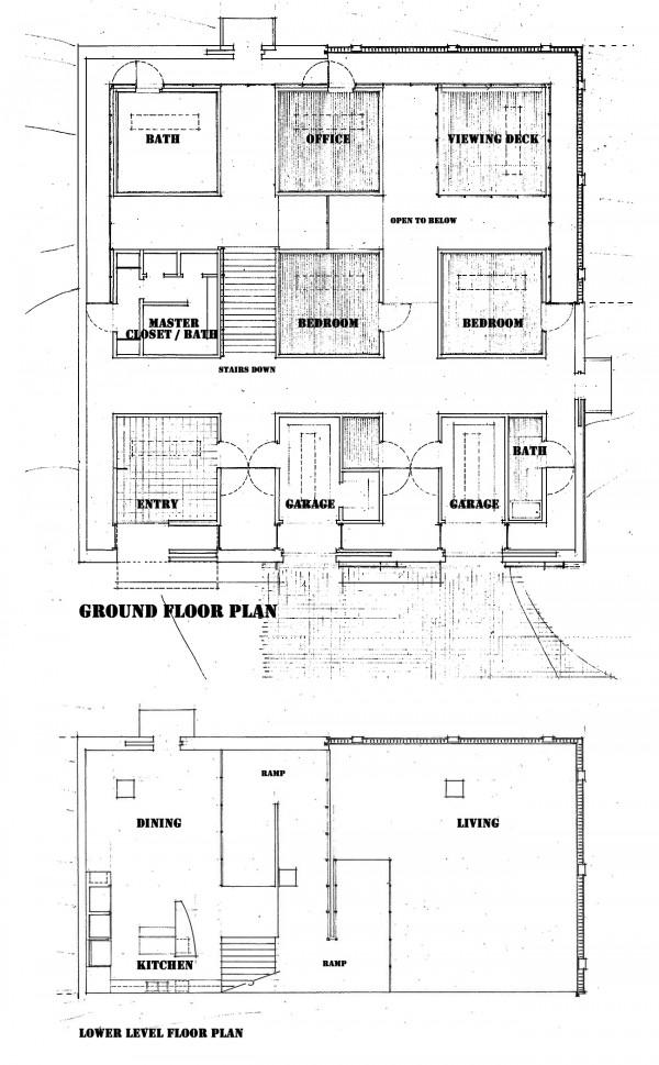 Floor Plan - The Cube House by Bob Borson