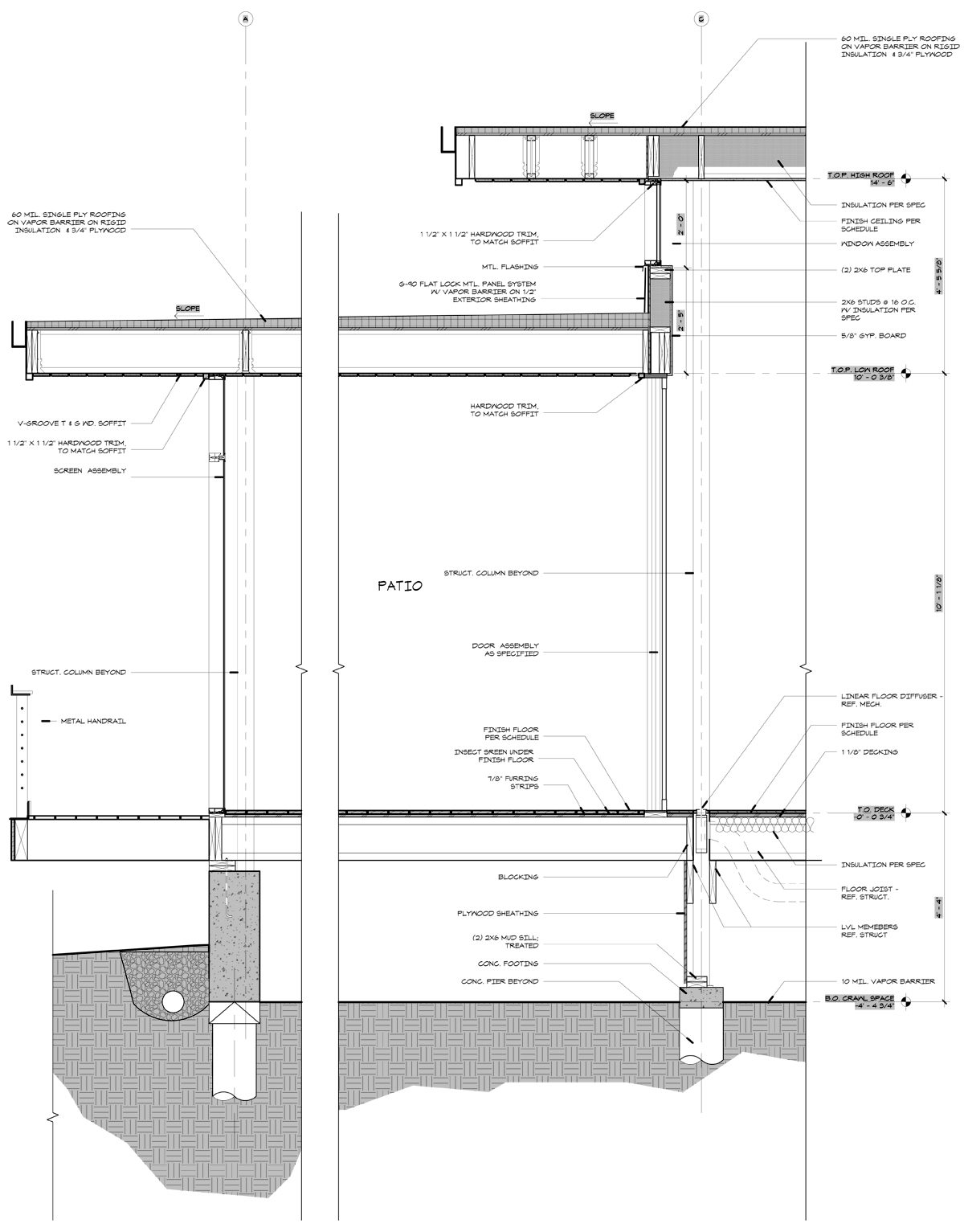 modern residential framing life of an architect