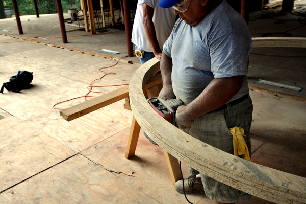 sanding the oculus
