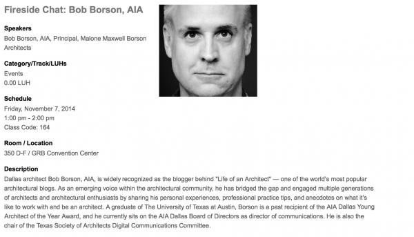 Bob Borson Fireside Chat Texas Society of Architects