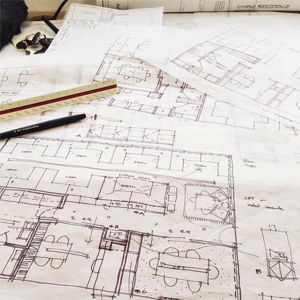 Bob Borson schematic design sketch - The office of MMBArchitects