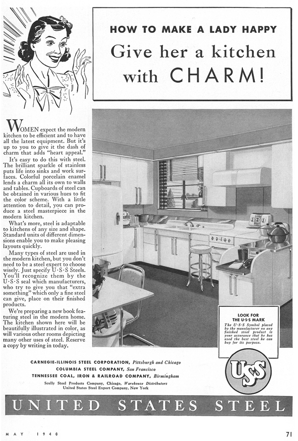 Architectural Forum ad - Kitchen Charm May 1940