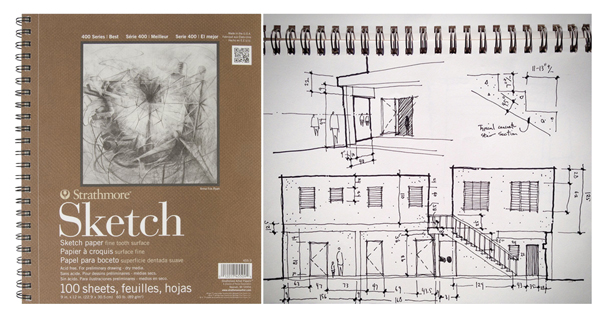 Strathmore 400 Series Sketch Paper - What to Get an Architect for Christmas