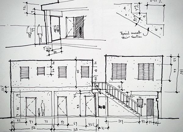preparing site measurement drawings