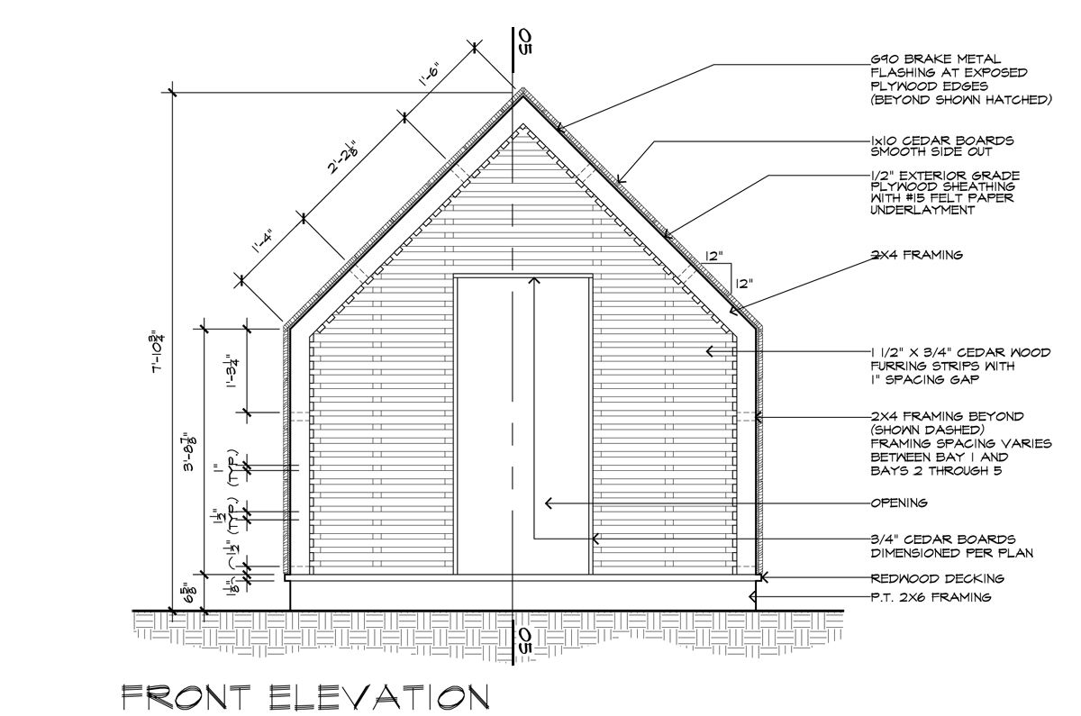 Front Elevation Design Drawing : I am an architect and draw for a living life of