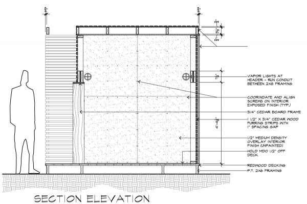 Lantern House Section Elevation