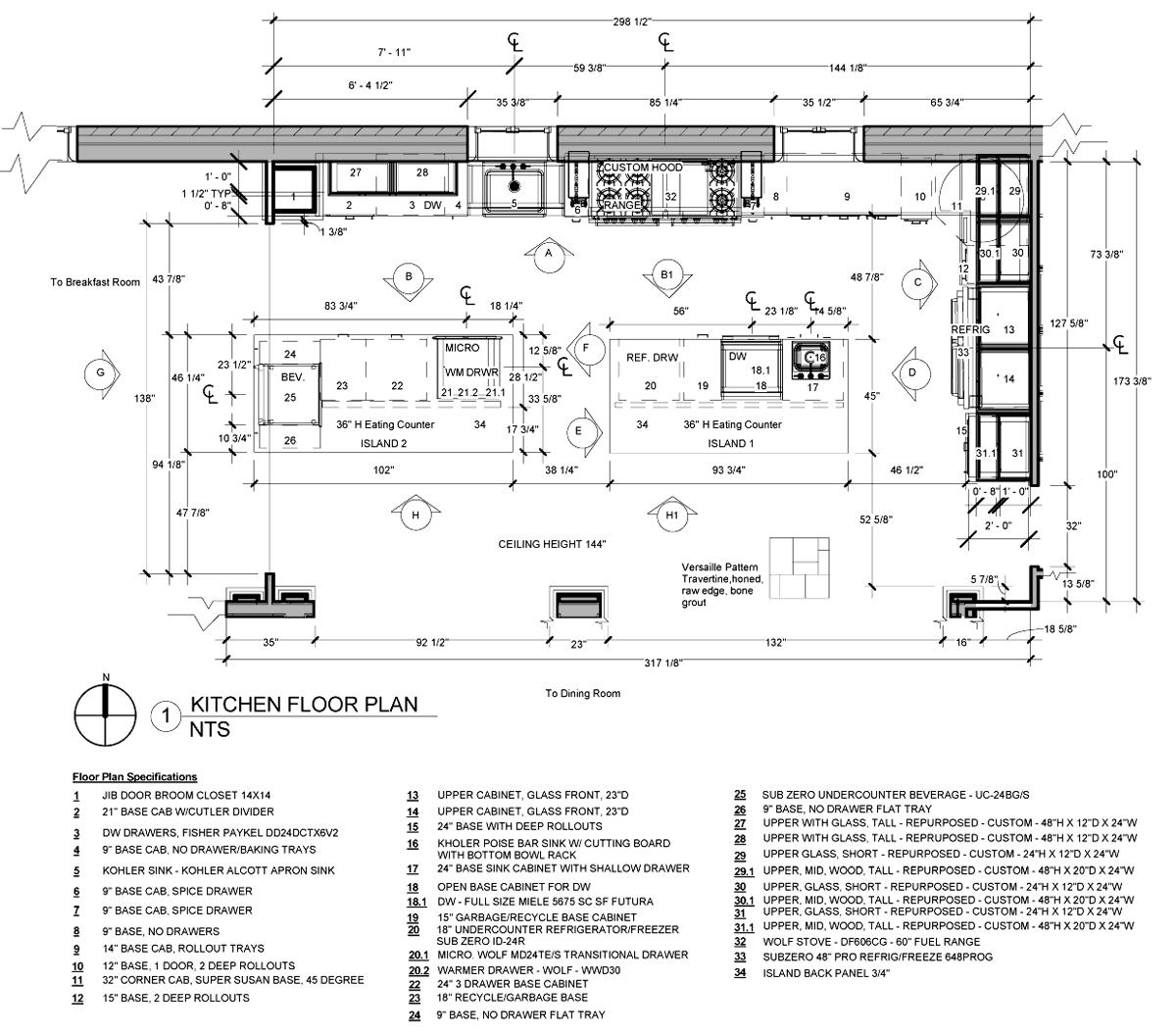 Httpwwwlifeofanarchitectwpcontentuploads201506 Pleasing Kitchen Design Drawings Decorating Inspiration