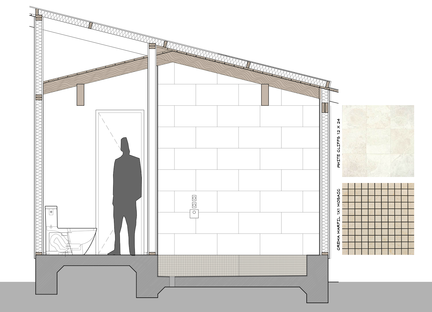 Front Elevation Bathroom : Master shower shall sucketh no longer life of an architect