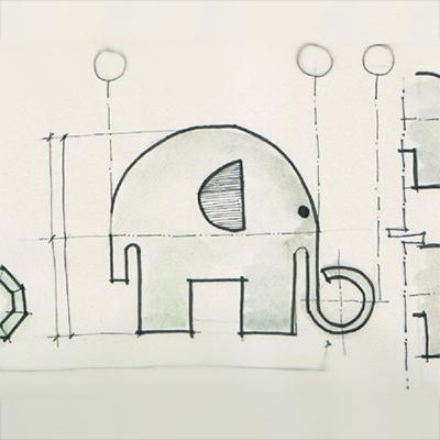 Ellie the Elephant design sketch