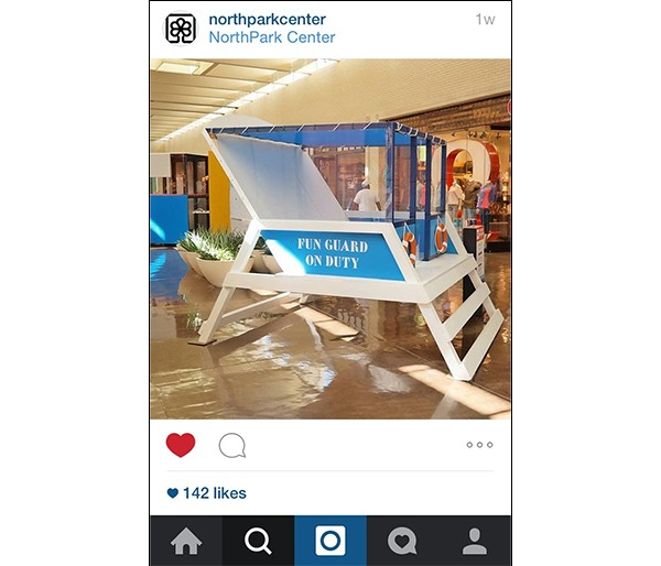 Fun Guard Beach House from NorthPark Instagram feed