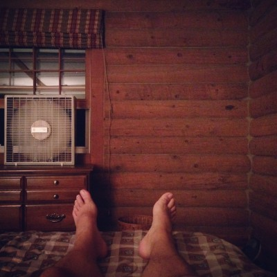 Hanging out in the cabin