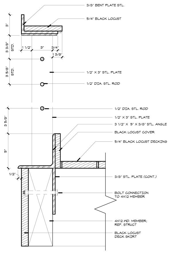 Handrail at Deck - detail