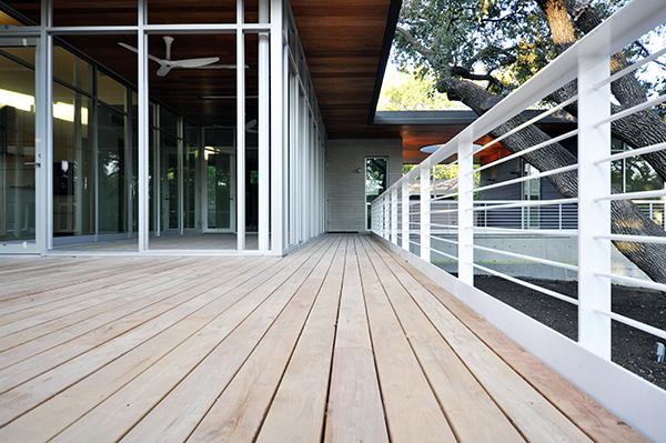 Wood Deck board layout
