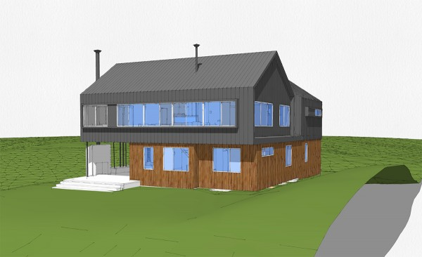 Modern Cabin Perspective 04