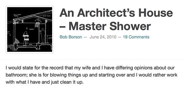 Bob Borson - An Architects House Master Shower