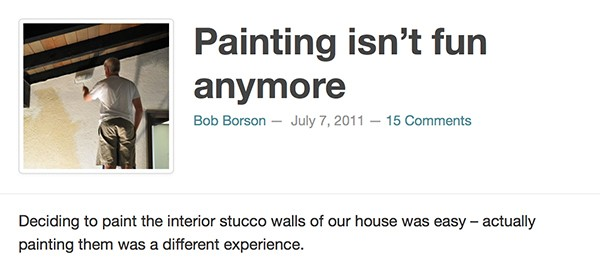 Bob Borson - Painting isn't fun anymore
