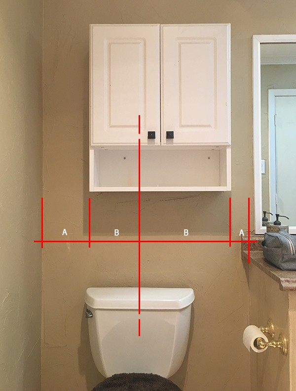 Cabinet not centered on toilet