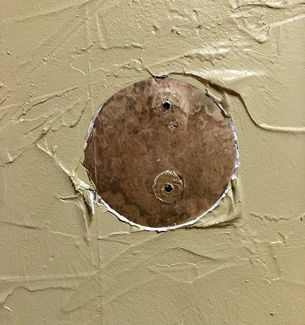 heavily textured walls