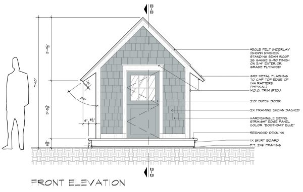 Cottage Playhouse Front Elevation
