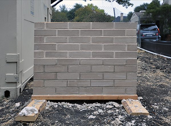 brick mockup to test mortar selection