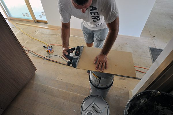 scribing the template with a planer
