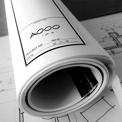 Roll of Architectural Drawings by Bob Borson