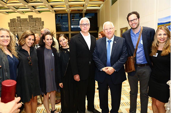 Vibe Israel Group Photo With Reuven Rivlin