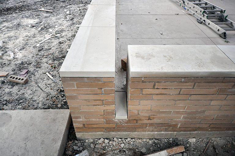 limestone cap for waterway
