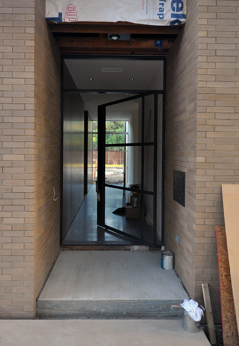 off center pivot door metal frame
