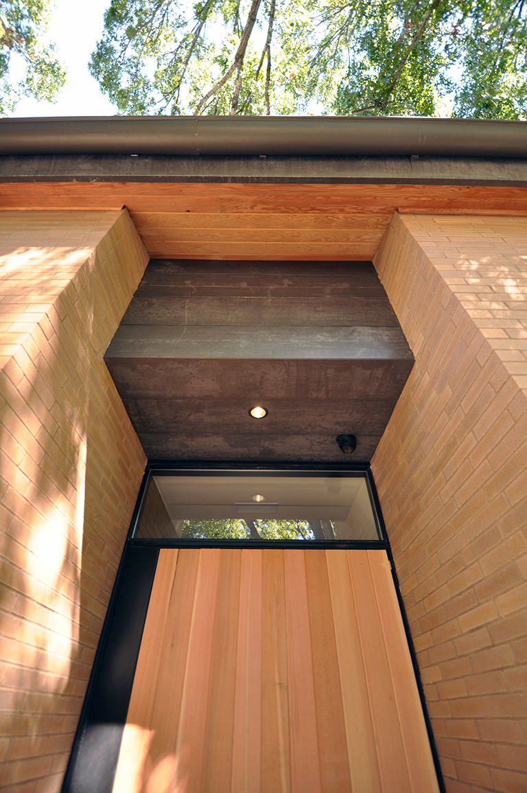 G90 soffit over the entry door