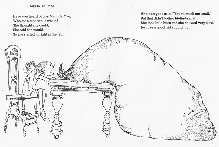 Melinda Mae Eating the Whale - By Shel Silverstein