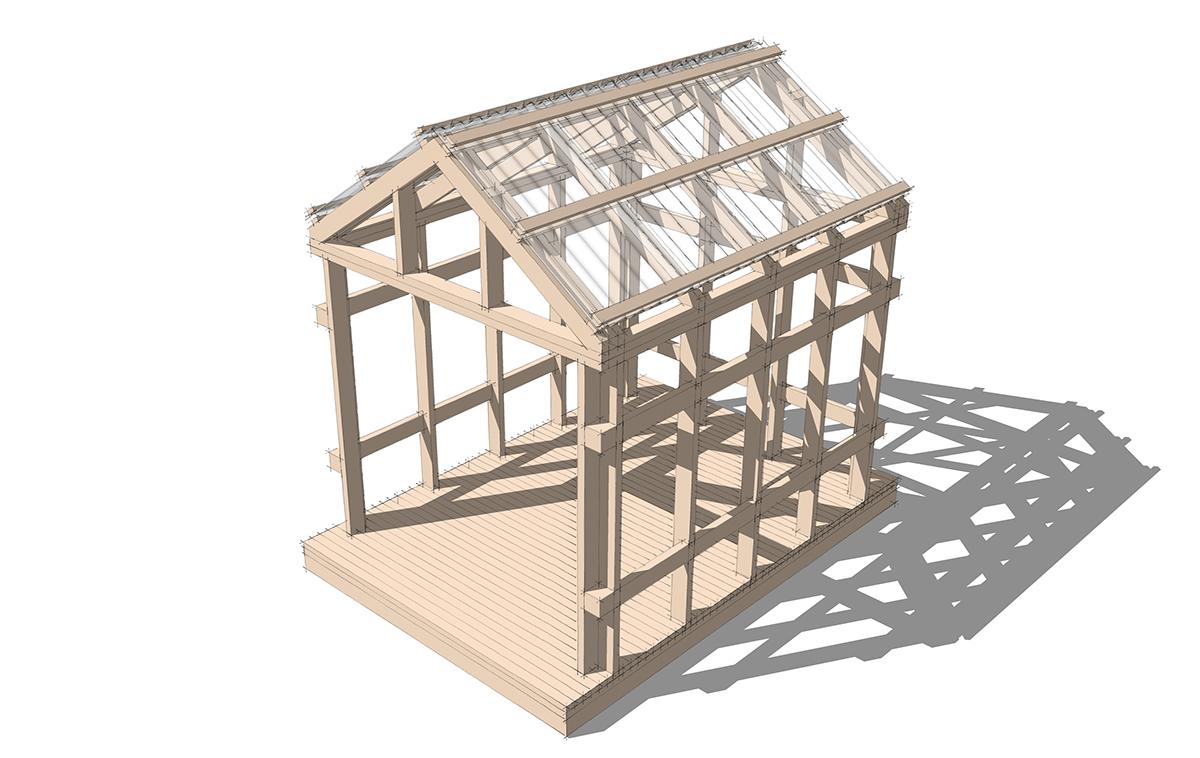Grasshopper Playhouse Roof Panels