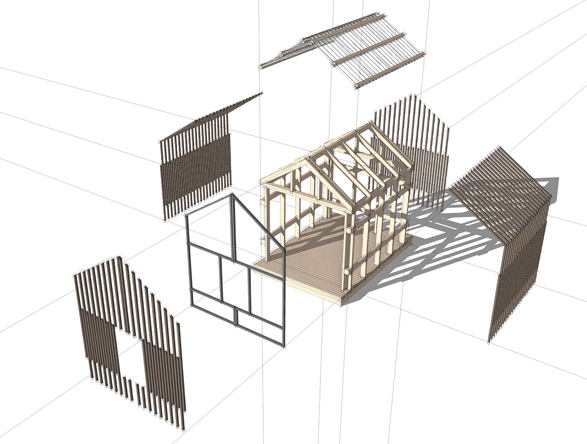 Grasshopper Playhouse exploded view
