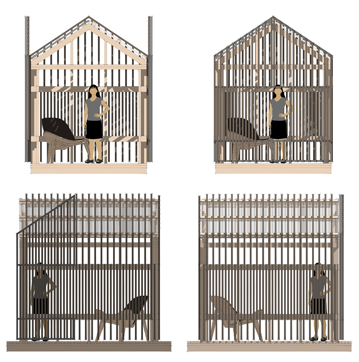 Grasshopper playhouse - transparency elevations