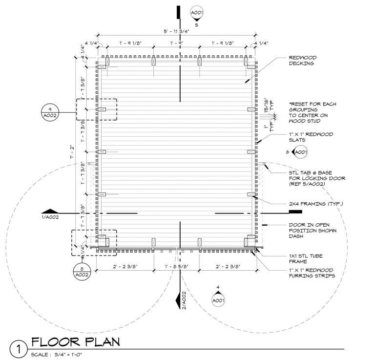 The Grasshopper House - 1 Floor Plan by Dallas Architect Bob Borson FAIA