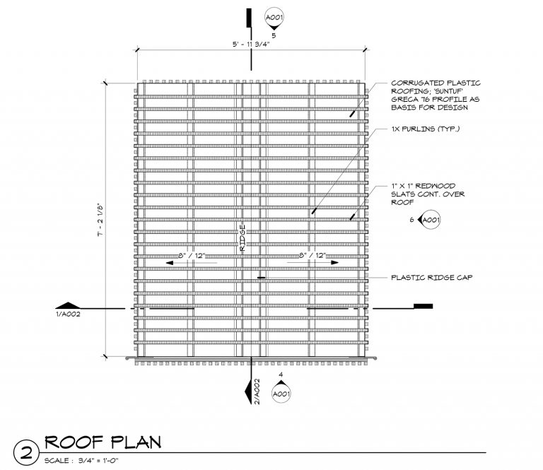 The grasshopper playhouse construction drawings life of for Roof plan drawing