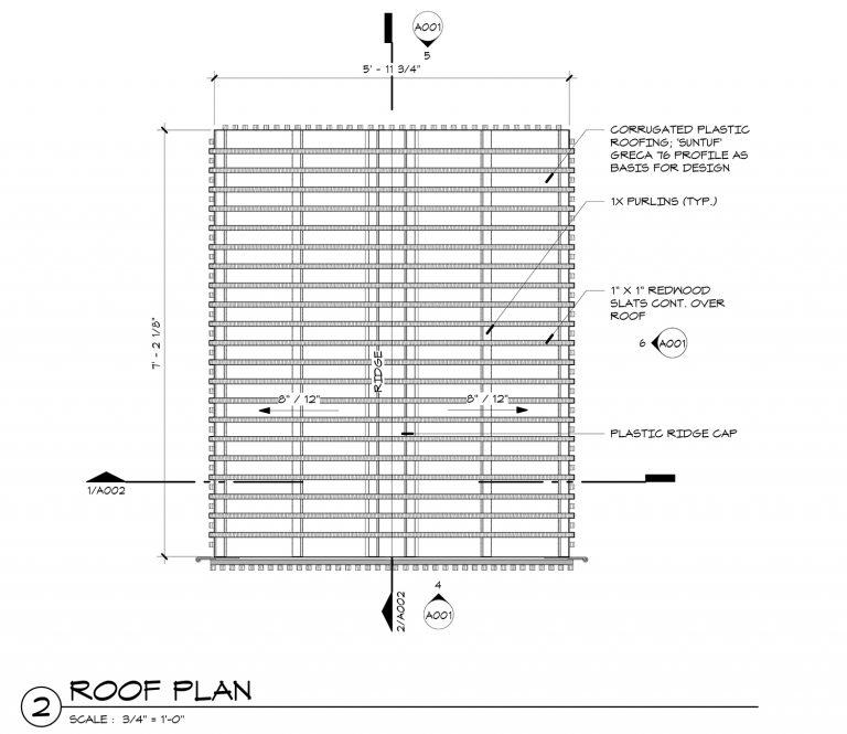 The Grasshopper House - 2 Roof Plan by Dallas Architect Bob Borson FAIA