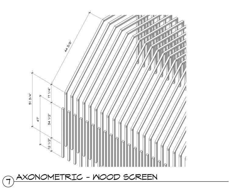 The Grasshopper House - 7 Axonometric Wood Slats
