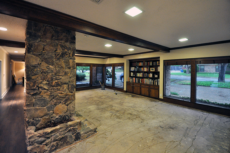 living room with concrete floor 03