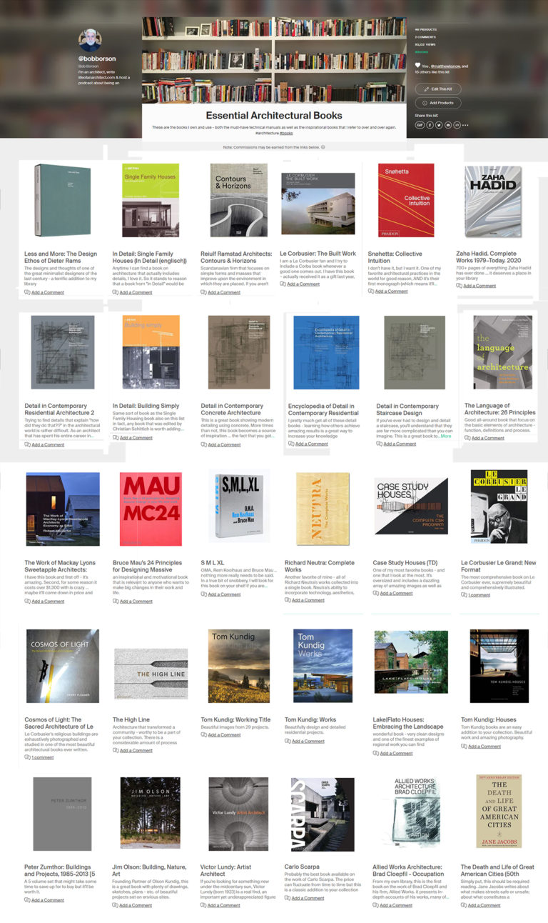 My Favorite Architecture Books – 2020